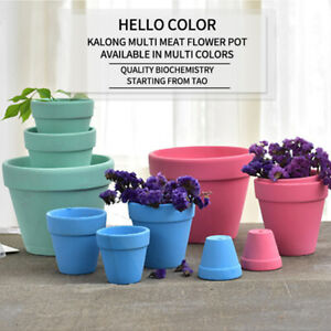 Mini Terracotta Succulent Plant Container Garden Tools Pot Ceramic Nursery Hot-。