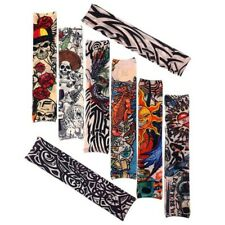 8 PCS Nylon Fake Temporary Tattoo Sleeve Arm Stockings Tatoo For Men Women VUT