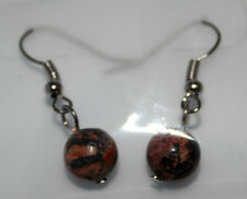 New Trend Jewelry Women's Girl's Ear Pendants Natural Pearl leopardenfelljaspis