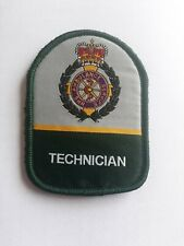 UK Ambulance Service TECHNICIAN NHS 3 Inch Sew On Woven Patch Badge