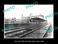 OLD LARGE HISTORIC PHOTO OF MOSS VALE NEW SOUTH WALES RAILWAY STATION c1900