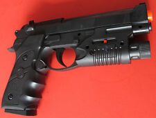 Good Quality Airsoft Spring Pistol Beretta M92F Style with Red Laser