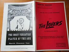Programme The Lovers, by Marcelle-Maurette, Winter Garden Theatre, 6/5/55
