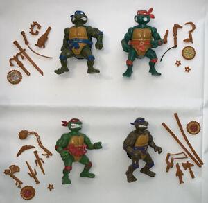 TEENAGE MUTANT NINJA TMNT Vintage 1991 Storage Shell Turtles lot weapons