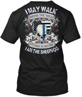 American Sheepdog Police -ending - I May Walk Among Hanes Tagless Tee T-Shirt