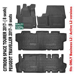 Rubber Carmats fit Peugeot Traveller 8s Business L2 Active L2 All Weather Mats