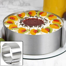 Adjustable Stainless Steel Round Mousse Cake Ring Mold Layer Slicer Cutter Hot