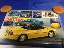 Indianapolis Indy 500 1990 CHEVROLET BERETTA Official Pacecar Poster NOS