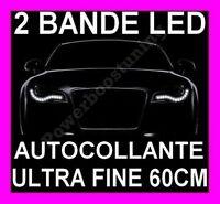 BANDE A LED SMD ADHESIF SOUPLE BLANCHE PHARE FEUX JOUR DIURNE FEU BLANC XENON