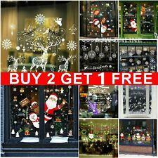 Christmas Xmas Santa Removable Window Stickers Art Decal Wall Home Shop Decor