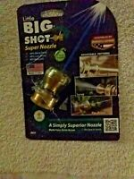 NEW Little Big Shot Super Hose Nozzle Solid Brass USA Garden Variable Spray