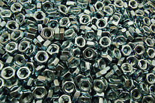 (500) Hex Jam Nut 3/8-24 Fine Thread - Zinc Plated - Thin Nuts