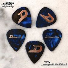 5 MEDIATORS DUESENBERG Cellulo SHELL PICKS heavy 0,95 Blue Pearl