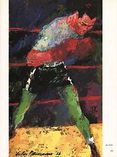 LEROY NEIMAN BOOK PRINT JOSE TORRES PUERTO RICAN BOXER LT. HVYWGT PRIZE FIGHTER