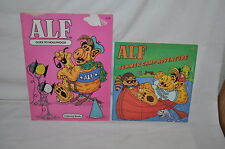 vintage 1987 ALF GOES TO HOLLYWOOD COLOR BOOK & ALF SUMMER CAMP ADVENTURE BOOK