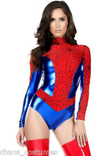 Spiderman Spider Woman Super Hero Comic Character Halloween Costume Small 6 - 8