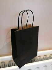 Luxury black paper bags with handles 21 x 15 x 8cm Brand New, Pack of 10