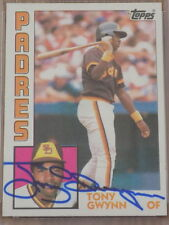 Tony Gwynn Signed 1984 Topps Card #251 PSA DNA Padres HOF