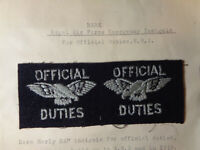 Super Rare British Royal Air Force RAF Official Duties Emergency Insignia Patch