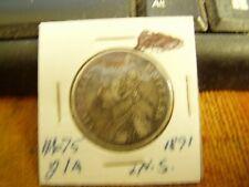 British India Rare Silver Coin: One Rupee (1891); Alwar State, Empress Victoria