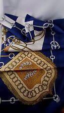 ancien foulard ou echarpe hermes en soie abadie  sabres de l empire bleu marine