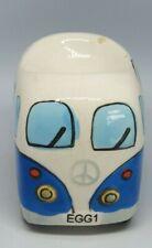 VW CAMPERVAN CERAMIC DARK BLUE AND WHITE EGG CUP