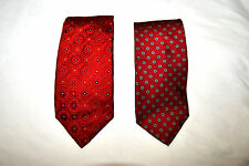 Lot of 2 CANALI Bert Pulitzer Ties  Mens Classic