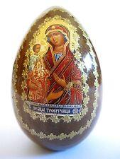 Holz Ikonen Ei Mutter Gottes mit Kind Ikone Russland