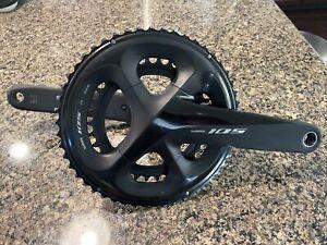 Shimano 105 FC-R7000 50-34 L Road Bike Bicycle 2x11 Speed CrankSet 175mm, Black