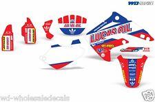 Decal Graphic Kit Honda MX CR85 Bike Sticker Wrap W/ Backgrounds CR85 03-07 XX