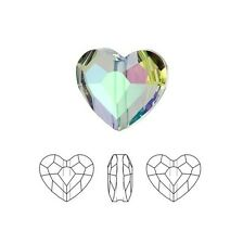 Swarovski Crystal Faceted Love Beads Heart 5741 Paradise Shine 8mm Package of 2