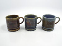 "Vintage Wade Ireland Porcelain 3 Painted Scene Mugs, 3"""