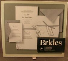 Brides Gartner Studios 30 Count Silver And White Invitation Kit Unused Printable