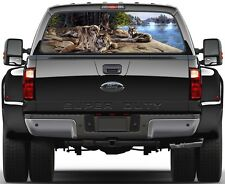 3 Wolves Painting Rear Window Graphic Decal Truck SUV Van Car