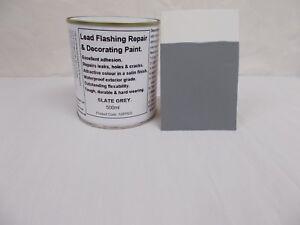 1 x 500ml Slate Grey. Lead Flashing / Roof Repair & Decorative Paint