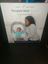 New! Snuggle Nest Dream - Baby Delight Portable Infant Sleeper Gray Scribbles