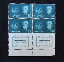 Israel Scott #90, Block of 4  With Full Tabs -  Mint, NH #I030