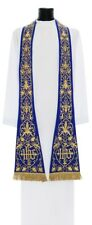 Blue Roman Clergy Stole SH630-N Étole Bleue Blau Stola Azzurro Estola Azul
