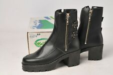 Martino Boots - Ladies Black Leather Cascade Motorcycle 114111 Size 11