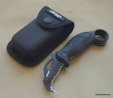 """WALTHER KARAMBIT DEFENSE FOLDING KNIFE WITH CLIP & NYLON POUCH - 6.75"""" OVERALL"""