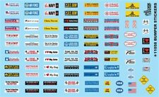 Gofer 11058  Car and Truck BUMPER STICKERS decal sheet 1/24 and 1/25