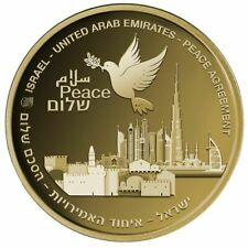 ISRAEL – UAE PEACE AGREEMENT 999.9 GOLD STATE MEDAL 1 OZ. - 32mm.