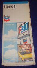 BS627 Chevron Standard Oil Co. Florida Road Map 1955