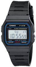 Casio Men's F91W-1 Classic Digital Alarm Chronograph Black Resin Watch