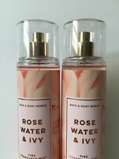 Bath & Body Works Pack Of 2  Rose Water And Ivy Fine Fragrance Mist 8 oz
