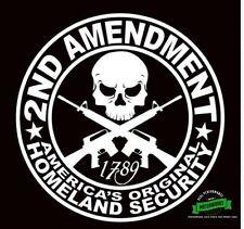 2ND AMENDMENT Pro-Gun vinyl decal sticker 4x4 Diesel USA Security Ships Same Day
