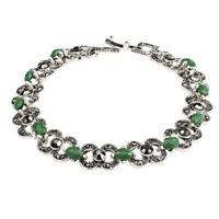 Woman Bohemian Bangle Bracelets Green Stones Wristband Jewelry Gift Cuff Charm