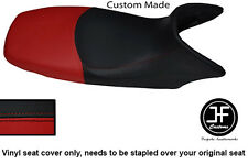 BLACK & DARK RED VINYL CUSTOM FITS HONDA XL 125 01-12 VARADERO SEAT COVER ONLY