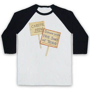 FATHER TED DOWN WITH THIS SORT OF THING CAREFUL NOW 3/4 SLEEVE BASEBALL TEE