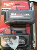 2-PACK Milwaukee 48-11-1865 M18 REDLITHIUM HIGH OUTPUT 6.0Ah Battery Pack New